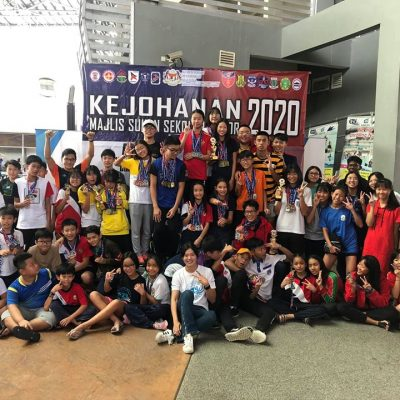 Overall Champion in Johor State School Swimming Championship 2020