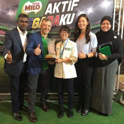 Awarded by Malaysia Ministry of Education as the Most Promising Female Athlete